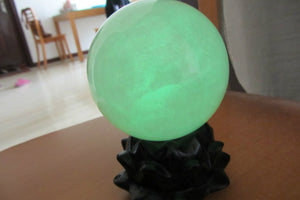 Glow In The Dark Green Calcite  Stone Ball
