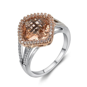 Morganite Oval Rose Gold Ring -Ring