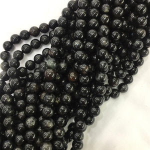 Genuine Black Arfvedsonite Stone BeadsBeads20mm