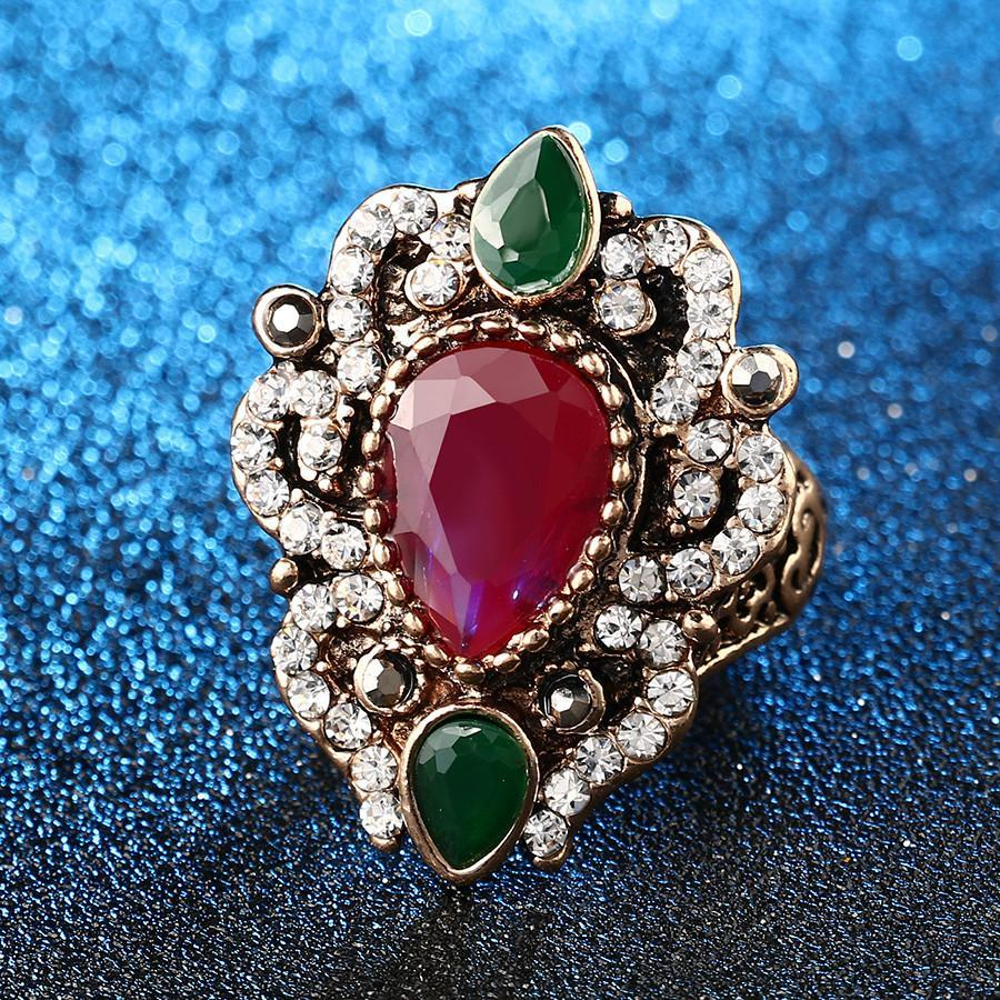 Turkish Vintage Ruby Ring   matans store.myshopify.com