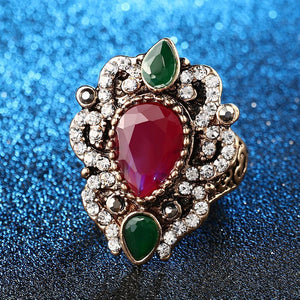 Turkish Vintage Ruby Ring - atperry's healing crystals