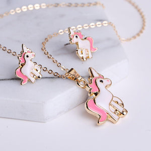 Beautiful Unicorn Cartoon Necklace - For KidsNecklace