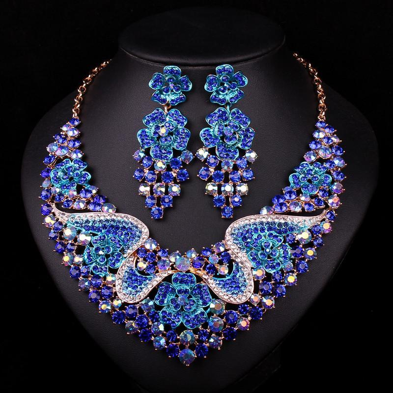 Sapphire Jewelry Set - Necklace and Earrings - atperry's healing crystals