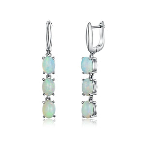 Natural Ethiopian Opal Clasp EarringsEarrings