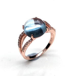 Natural Gemstone Sky Blue Topaz RingRing