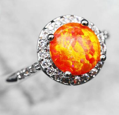 Red Fire Opal Ring - Sizes; 6/7/8Ring6