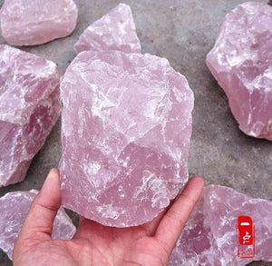 2.2lb / 1kg Natural Rose Quartz Stoneraw stone1kg about 1-5pcs