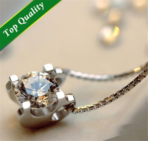 High Quality Zircon 925 Silver Necklace   matans store.myshopify.com