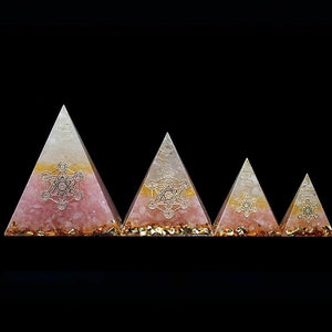 Orgonite Rose Quartz Crystal Pyramiddecoration