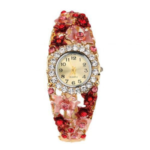 Fashion Gemstone Bracelet WatchWatchRed