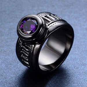 African Amethyst Ring - Black Gold - atperry's healing crystals