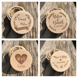 Personalized Rustic Wedding Wooden Ring Box HolderRing Holder