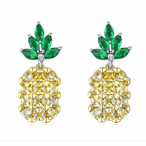Lovely Pineapple Stud Earrings - 925 Sterling SilverEarrings