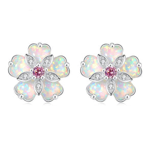 BOHO Cherry Blossom Opal Stud EarringsEarrings