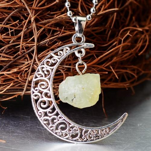 Natural Healing Crystal Moon Pendant NecklaceNecklaceFor Forgiveness