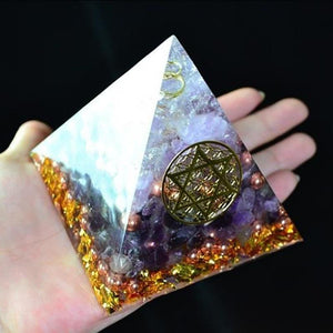 Orgonite Pyramid Amethyst Natural Crystaldecoration