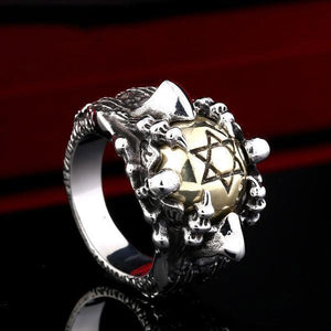 Stainless Steel Skull David Star Ring - AtPerry's Healing Crystals™