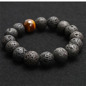 Black Volcanic Lava Stone Bracelet - For Men - atperry's healing crystals