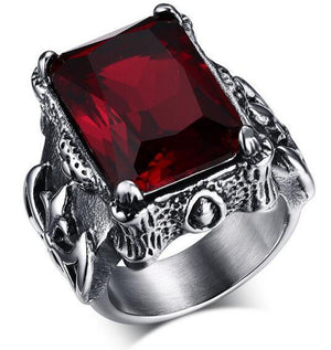 Retro Ruby Ring For Men - atperry's healing crystals