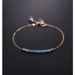 Blue Topaz Yellow 14K Gold BraceletBracelet