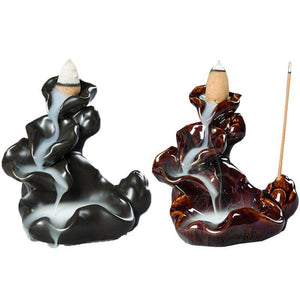 Ceramic Incense Burner Sweet Lotus - AtPerry's Healing Crystals™