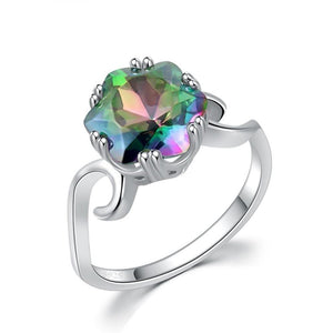 Simulated Mystic Topaz Rainbow Ring - 925 Sterling SilverRing7