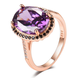 Astonishing Amethyst Rose Gold Ringring