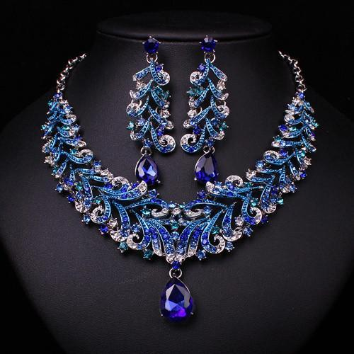 Sappphire Set - Necklace & Earrings