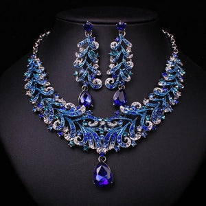 Sappphire Set - Necklace & Earrings - AtPerry's Healing Crystals™