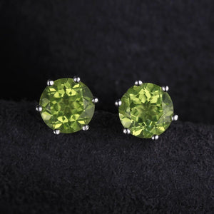 Natural Peridot Earrings - 925 Sterling Silver - atperry's healing crystals