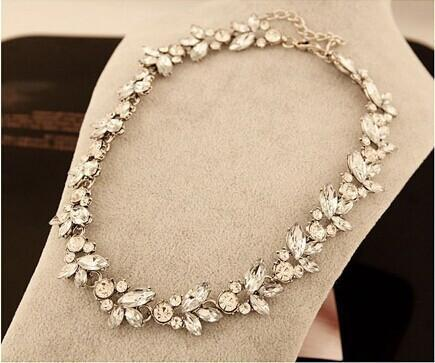 Bohemia Style Luxury Crystal Flower Choker Bib Statement Necklace - atperry's healing crystals