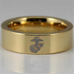Golden US Marine/USMC Ring - AtPerry's Healing Crystals™