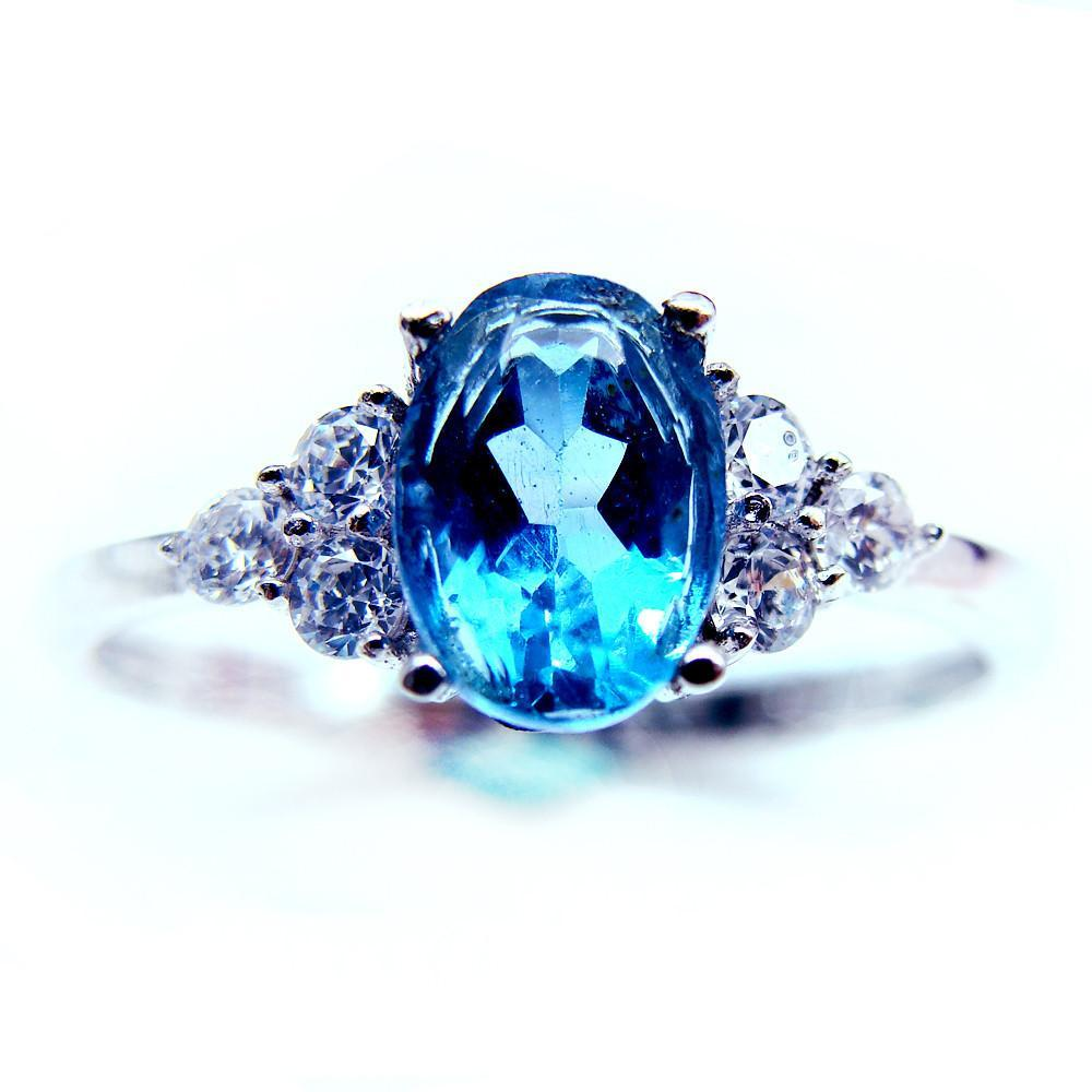 Natural Topaz 925 Stering Silver Ring   matans store.myshopify.com