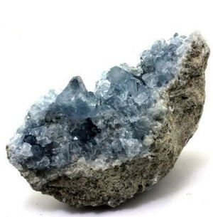 Natural Celestite Crystal Cluster - atperry's healing crystals