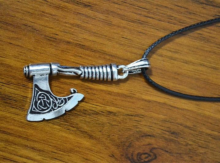 Antique Silver Viking Axe Pendant - atperry's healing crystals