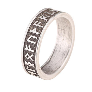 Viking Rune Men Ring - Nordic Alphabet (SIZE 9 ONLY) - atperry's healing crystals