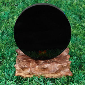 10 cm Black Obsidian Scrying  Mirror - atperry's healing crystals