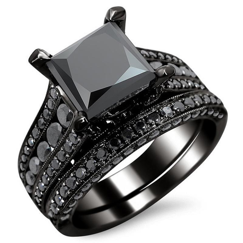 Black Square Ring - Black Gold - atperry's healing crystals
