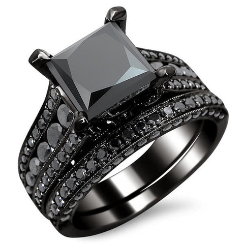 Black Square Ring - Black Gold - AtPerry's Healing Crystals™