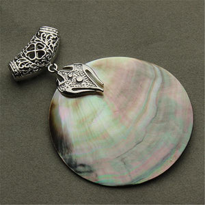 Natural Mother of Pearl Shell Pendant (Abalone) - atperry's healing crystals