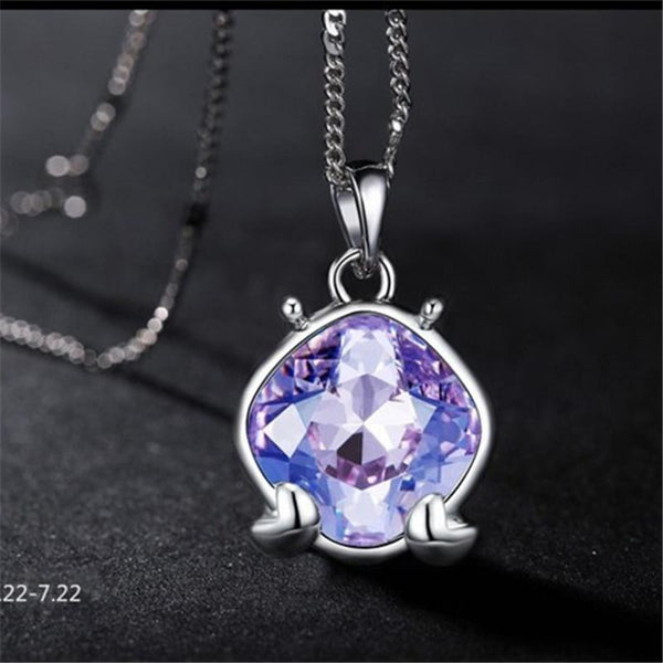 Tanzanite Crystal Silver Necklace - AtPerry's Healing Crystals™