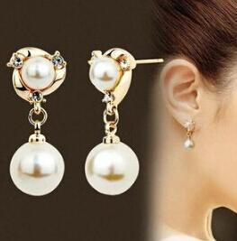White Pearl Stud Earrings - atperry's healing crystals