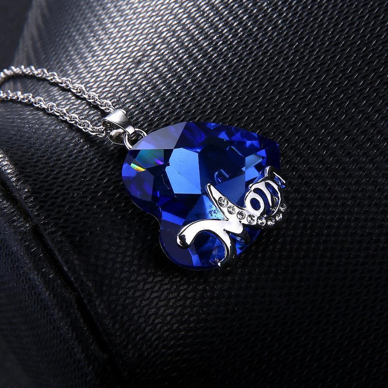 Sapphire Heart Mom Necklace - atperry's healing crystals