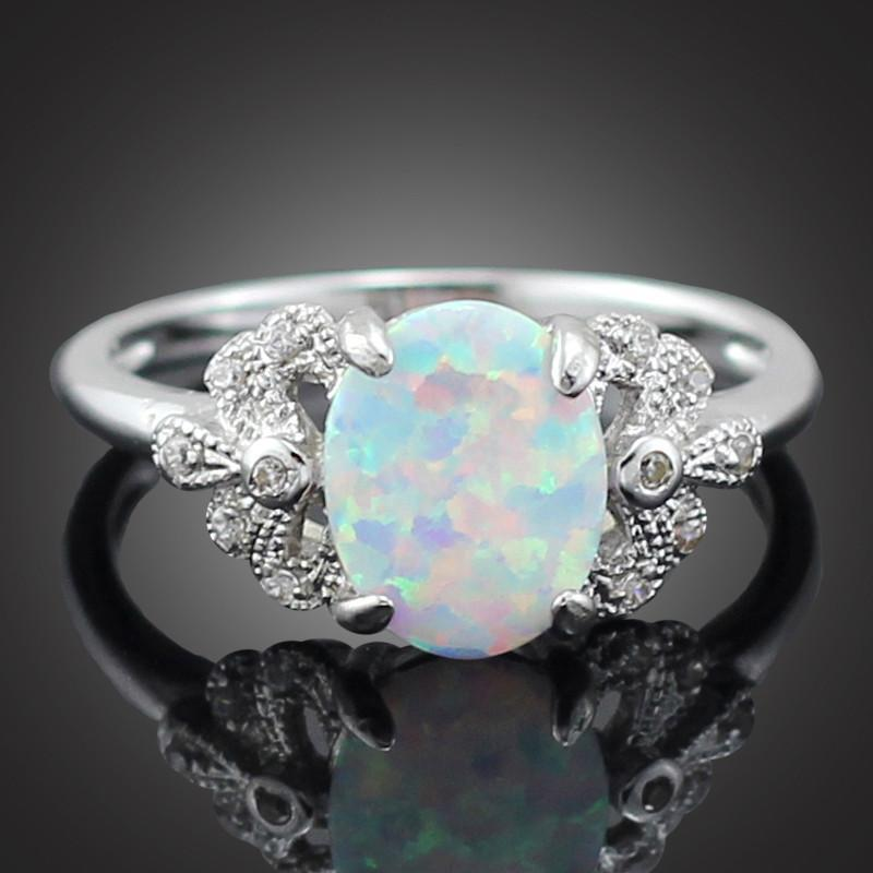 White Fire Opal Ring - AtPerry's Healing Crystals™