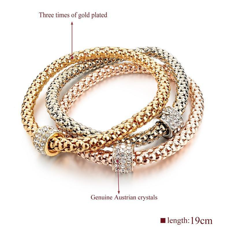 Gold Color Bracelets & Bangles - AtPerry's Healing Crystals™