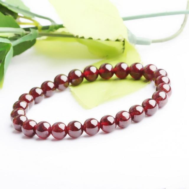 Garnet Bracelet - Red Stone - atperry's healing crystals
