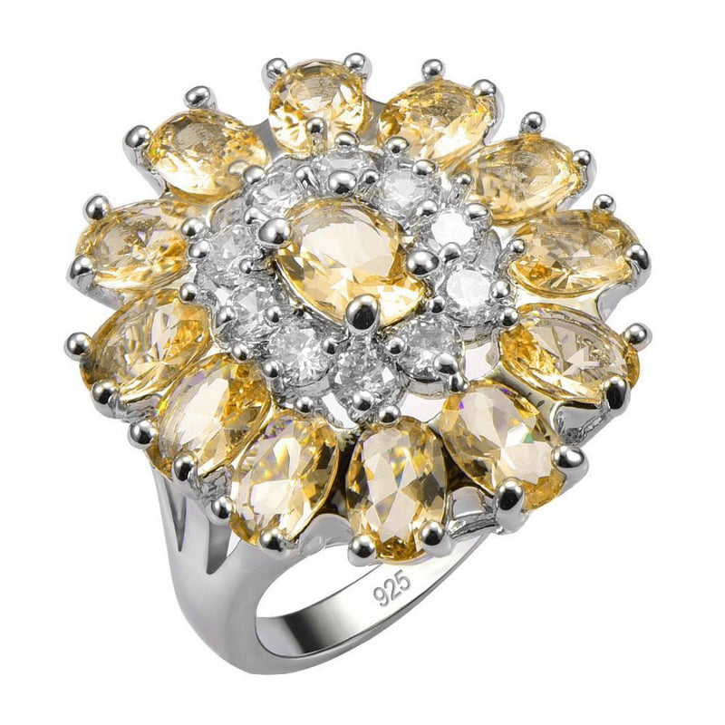 Exquisite Citrine 925 Sterling Silver RingRing10
