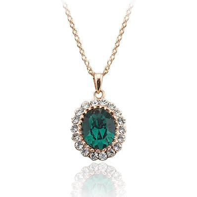 Elegant Emerald Necklace - AtPerry's Healing Crystals™