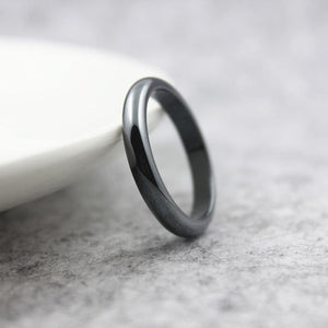 Classic Round Hematite Ring - atperry's healing crystals