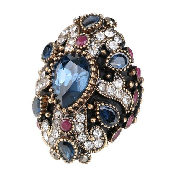 Unique Cross Vintage Ruby/Sapphire Ring - AtPerry's Healing Crystals™